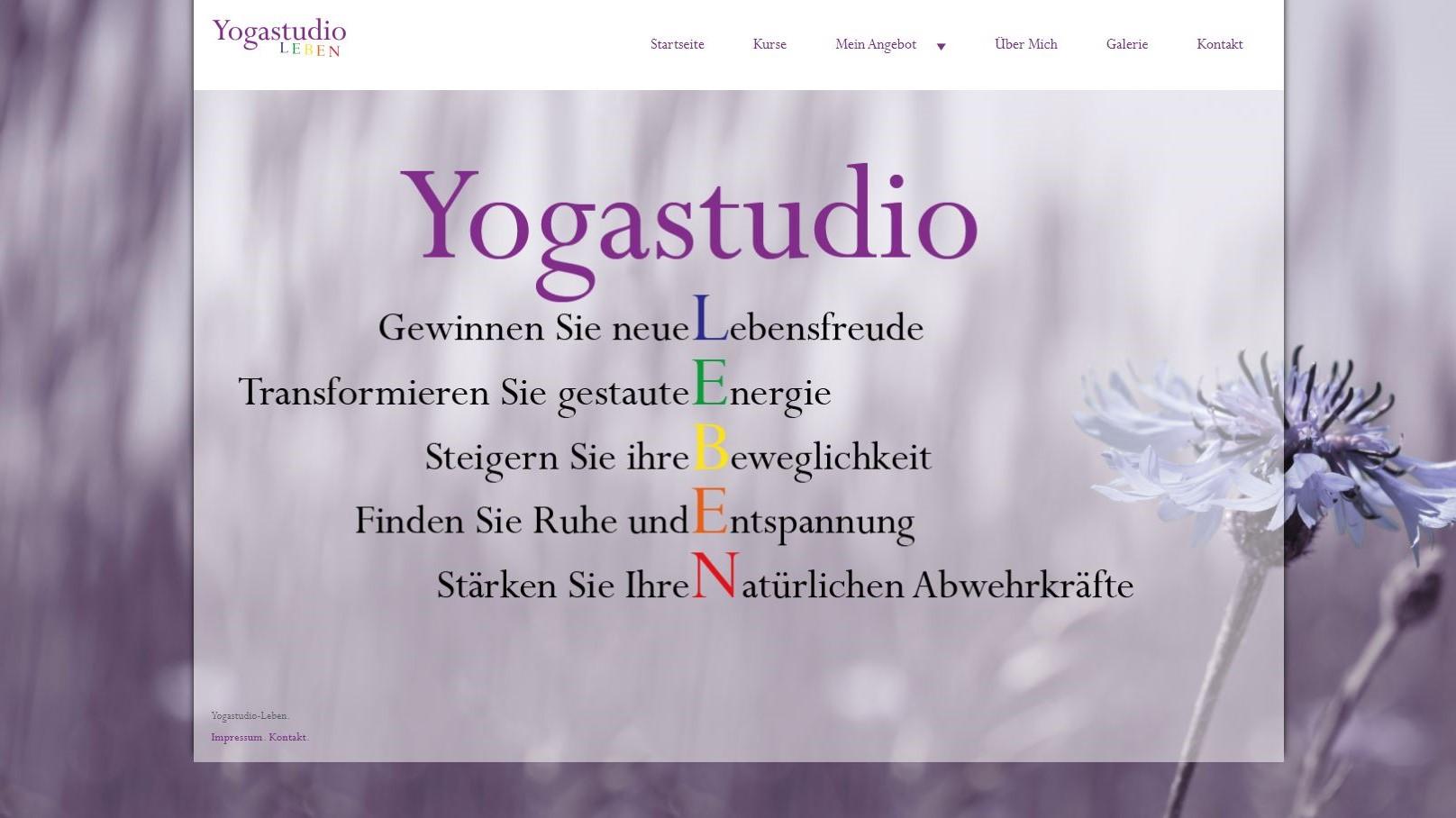 Yogastudio Leben